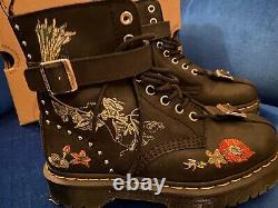 Rare Dr Martens Gomez Botanics Floral Embroidered Boots UK 5 EU 38