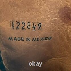 Rare! FRYE HOPE Jennifer Estes Womens Embroidered Leather Boots US 9-9.5 Black