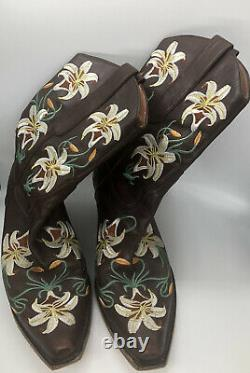 Sam Edelman Embroidered Lily Limited Edition Cowboy Boots Size 7