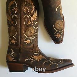 Shyanne Floral Embroidered Western Boots, Women's Size 6.5 Medium