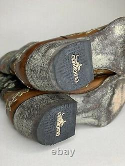 Size 10 Women OLD GRINGO LEATHER/EMBROIDERED BONNIE COWBOY BOOTS Cowgirl Sniptoe