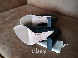 Sophia Webster Black Leather Floral Applique Ankle Boots Booties Sz 39 UK 6
