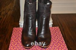 Tory Burch Brown Melrose Booties Boots 10 Leather