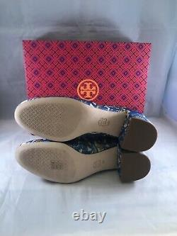 Tory Burch Shelby Floral Embroidered Ankle Bootie Size 10