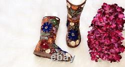 UGG Vintage Y2K LIMITED EDITION Floral Embroidered Boot SZ 7