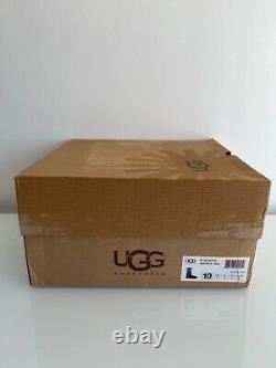 UGG Women Juliette Floral Embroidery Suede Black Women Size 10 NEW WITH BOX