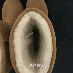 Ugg Australia Juliette Womens Brown Floral Embroidered Winter Boots Size US 9