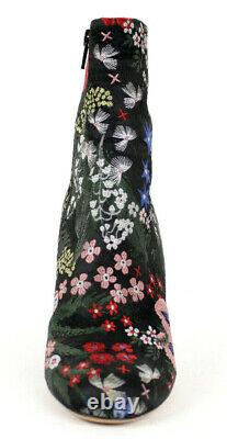 VALENTINO $1,495 Multi Floral CAMUGARDEN High Heel Ankle Boots 37