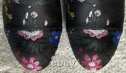 VALENTINO$1,495 NIB Camugarden jacquard embroidered floral ankle boot 36/6US