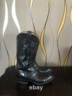 VINTAGE LUCCHESE Classic Handmade Leather Boots Women's Size 8.5 MADE IN USA