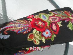 Vintage ROBERTO CAVALLI Just Cavalli embroidered Leather Pointed Toe Boots