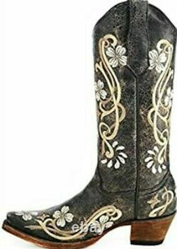 Women's Circle G By Corral Multi Color Floral Embroidery Boot L5175 Size 7 NIB