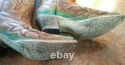 Women's Corral Western Boots -Turquoise, Embroidery -Snip Toe A3784 Sz 6.5 NIB