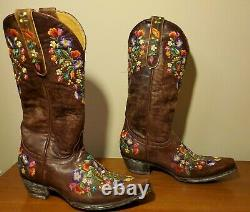 Women's Old Gringo L841-3 Sora Cowboy Boot Size 7 Medium Pre-Owned