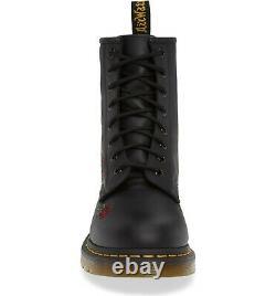 Women's Shoes Dr. Martens 1460 VONDA 8 Eye Floral Leather Boots 24722001 BLACK
