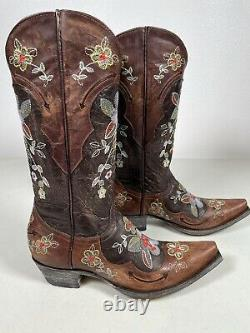 Womens Old Gringo Boots Bonnie Chocolate Brass Handmade Size 8 L649-1
