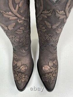 Womens Old Gringo Boots Jaimee Flowers Roses Gold Brown Handmade 9.5 L3422-1