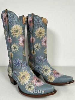 Womens Old Gringo Boots Saguaro Flower Yippee Ki Yay Handmade Size 8.5 YL407-1