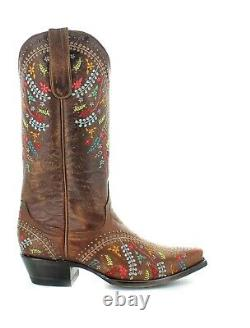 Yippee Ki Yay by Old Gringo Ladies Anya Brass Brown Boots YL344-1