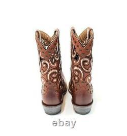 Ariat Paloma Sequoia Cowboy Bottes Femmes Clouées En Cuir Brun Us 7,5