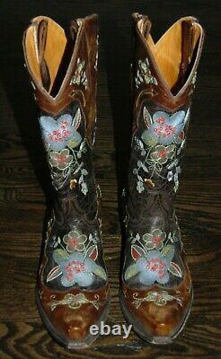 Bottes De Cowboy Brodées Florales Old Gringo Pour Femmes 10 B