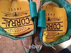 Bottes De L'ouest Corral Pour Femmes - Turquoise, Broderie - Toe D'épices A3784 Sz 6,5 Nib
