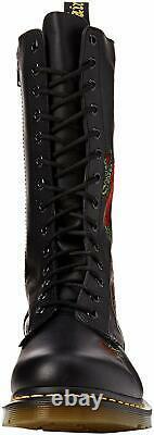 Chaussures Pour Femmes Dr. Martens 1914 Vonda 14 Eye Floral Leather Boots 12761001 Noir