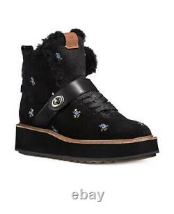 Coach Urban Hiker Boots Floral Noir 8b