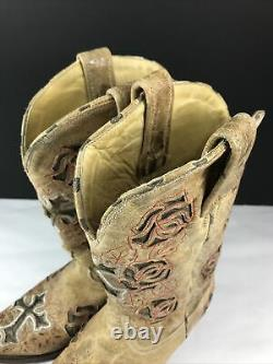 Corral Boots R2460 Antique Saddle Brown With Roses And Crosses Authentic Size 8 Corral Boots R2460 Antique Saddle Brown With Roses And Crosses Authentic Size 8 Corral Boots R2460 Antique Saddle Brown With Roses And Crosses Authentic Size 8 Corral