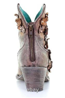 Corral Chaussures Brodées De Superposition Florale Pour Femmes Pointed Toe A3679