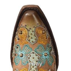 Corral Ladies Mint & Maple Inlay Floral Embroidery & Studs Boots C3379