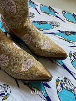 Cowboy Brodé Vieux Gringo Floral Pour Femmes Boot 9 B Botte En Cuir