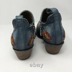 Cuadra Floral Embroidered Leather Women Boot Bohemian Western Sz 9