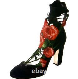 Dolce & Gabbana Bottes Brodées Florales Nouveau $1200 Taille 8 Ou 8.5us It39