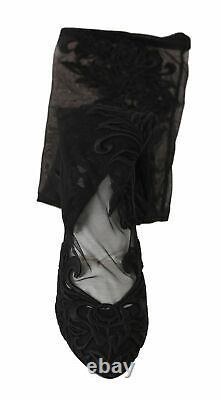 Dolce & Gabbana Chaussures Femmes Noir Dentelle Bottes Talons Eu39/us9