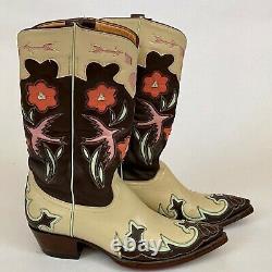 Femmes Boot Star Par Old Gringo Bottes 7 B Hirondelles Coeurs Fleurs