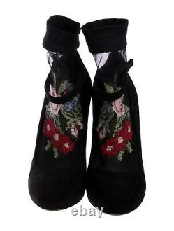 Femmes Dolce & Gabbana Bottes De Cheville Brodées Florales Taille Us 8 (38)