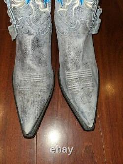 Femmes Rudel Western Boots Taille 7.5 Brosse Suede Corte Vacano