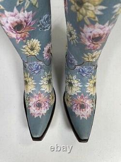 Femmes Vieille Bottes Gringo Fleur De Saguaro Yippee Ki Yay Taille Artisanale 8.5 Yl407-1