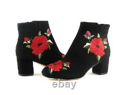 Kate Spade New York Langton Black Suede Floral Broded Ankle Bootie Taille 6