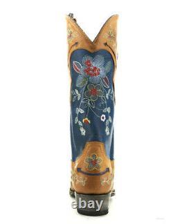 L 649-10 Old Gringo Bonnie Azul Blue Honey Bottes Brodées Florales