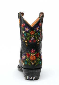 L 841-2 Old Gringo Sora Vesuvio Black Floral 8 Bottes En Cuir