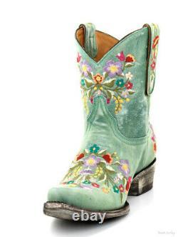 L 841-8 Old Gringo Sora 8 Aqua Floral Brodé Bottes De Cow-girl