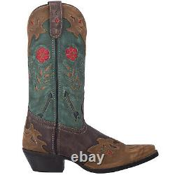 Laredo Femmes Miss Kate Western Cowboy Boots Floral Embroidery Snip Toe Brown
