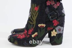 Laurence Dacade Bottines En Toile Brodée Florale Taille 37