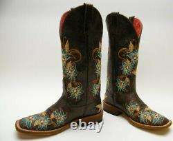 Macie Bean M9034 Brodé Boboy Brn Floral Boots Glitterrific Lily Ana 7 M
