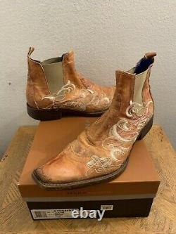 Mark Nason Jam Rock Never Dies Brown Embroided Leather Boot Taille 9.5 D