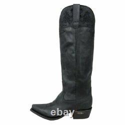 Miss Macie Women's Black Luna Broded Floral Cowgirl Boot U6015-01 T.n.-o. 6-10m