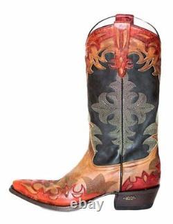 Miss Macie Women's Black Red Gussied Up Western Cowgirl Boot U6005-01 T.n.-o. 6-10m