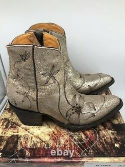New Old Gringo Flor Loca 6 Bottes À Cheville Flora Taille 8.5 Sintino Usaso Neige 450 $